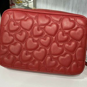 Michael Kors Heart Quilted Leather Crossbody Bag